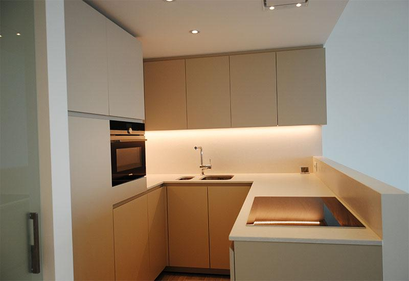 Verbouwing appartement alphaworks - Werkblad silestone ...