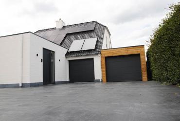 gepolierde zwarte beton