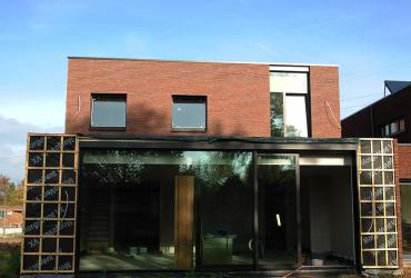 nieuwbouwwoning verlijmde gevelsteen