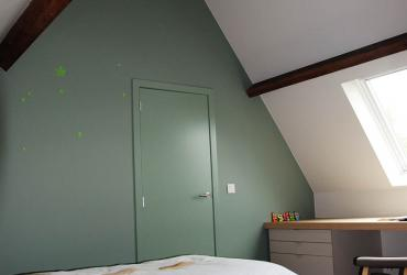 meisjeskamer muur in kleur