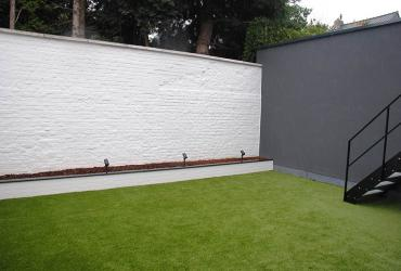 eenvoudige binnentuin