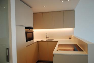maatwerk keuken met werkblad in silestone