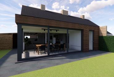 uitbreiding woning met hout
