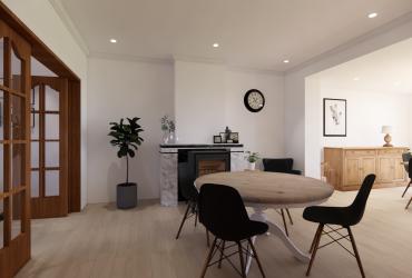 ontwerp leefruimte met bestaande schouw
