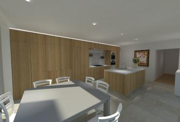 houten keuken ontwerp