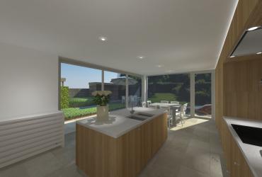 keuken ontwerp houtstructuur