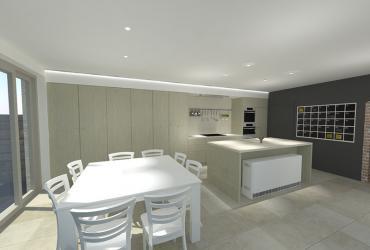 keuken in houtstructuur