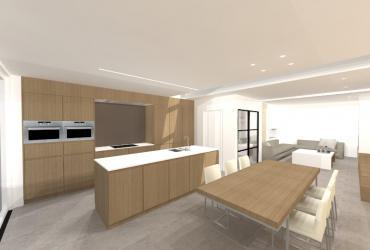 ontwerp keuken houtstructuur