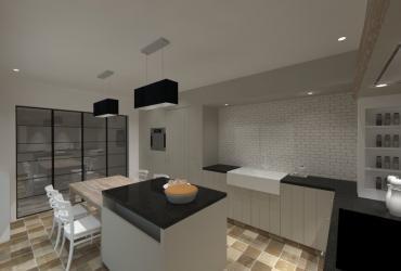 ontwerp landelijke keuken met eiland