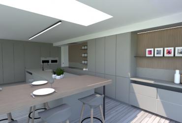 ontwerp bijgebouw keuken
