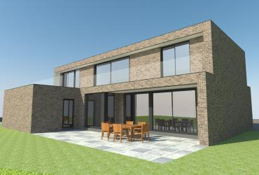 nieuwbouwwoning modern met luifel