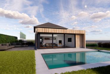 poolhouse houten gevelbekleding